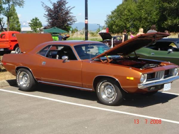 1974 'CUDA COLLECTOR CAR 360 4 speed Pistol Grip Sienna - $31500