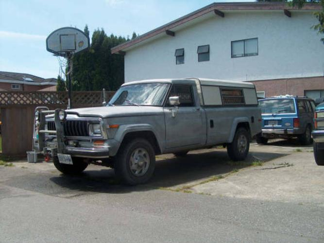 1981 Jeep J20 4x4 Pick Up Truck For Sale In Burnaby