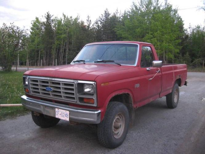 1986 ford f 250 red interior pickup truck for sale in prince george british columbia all cars. Black Bedroom Furniture Sets. Home Design Ideas