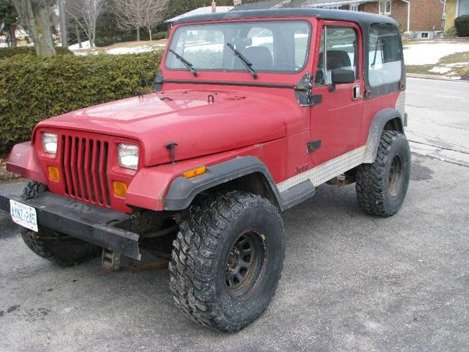 1987 jeep wrangler yj convertible for sale in owen sound ontario all cars in. Black Bedroom Furniture Sets. Home Design Ideas