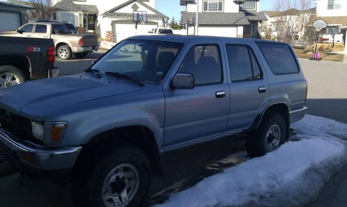 1991 toyota 4runner sr5 suv for sale in calgary alberta all cars in. Black Bedroom Furniture Sets. Home Design Ideas