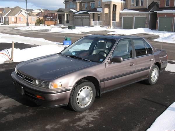 1992 honda accord 1200 for sale in markham ontario all cars in. Black Bedroom Furniture Sets. Home Design Ideas