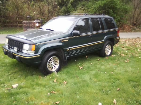 1993 jeep grand cherokee limited edition 1600 for sale in langley british columbia all. Black Bedroom Furniture Sets. Home Design Ideas