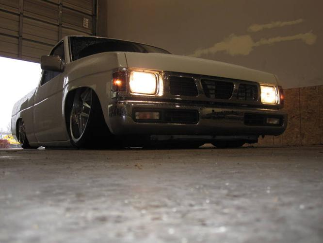 Nissan Hardbody Airbagged Body Dropped Lowrider Show Truck on 1994 pathfinder 2 door