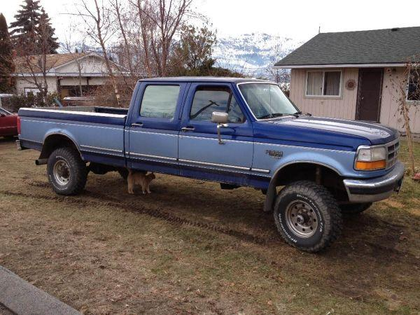 1997 F350 Crew Diesel 4x4 6900 For Sale In Osoyoos