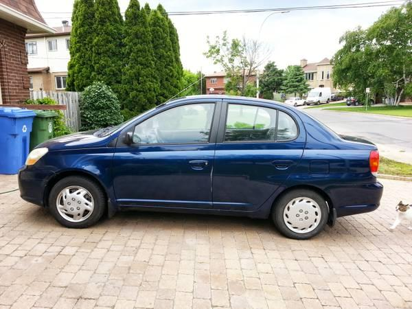 2003 Blue Toyota Echo automatic, only 78000km - $5275