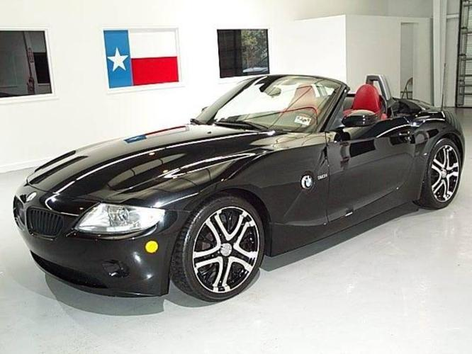 2005 Bmw Z4 Black W Red Interior Convertible For Sale In