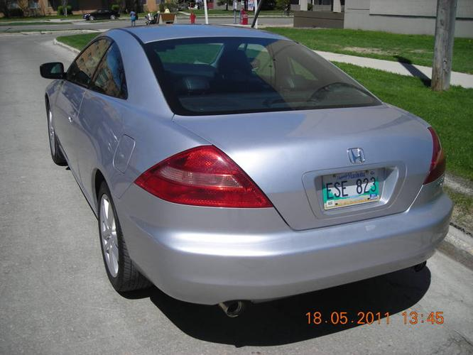 2005 honda accord ex v6 mt coupe for sale in winnipeg. Black Bedroom Furniture Sets. Home Design Ideas
