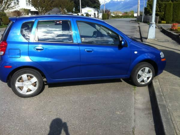 2006 chevrolet aveo 5 5speed 4750 for sale in chilliwack british columbia all cars in. Black Bedroom Furniture Sets. Home Design Ideas
