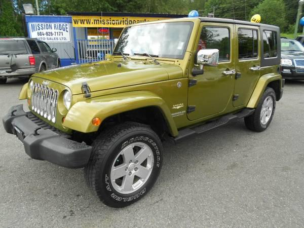 -- 2007 Jeep Wrangler Unlimited Sahara - $17989