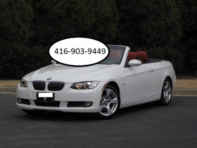 2008 Bmw 328i Convertible White With Red Interior For Sale In Mississauga Ontario All Cars In