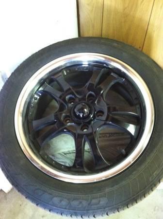 205/55/R16 tires & black rims(set of 4) - $550