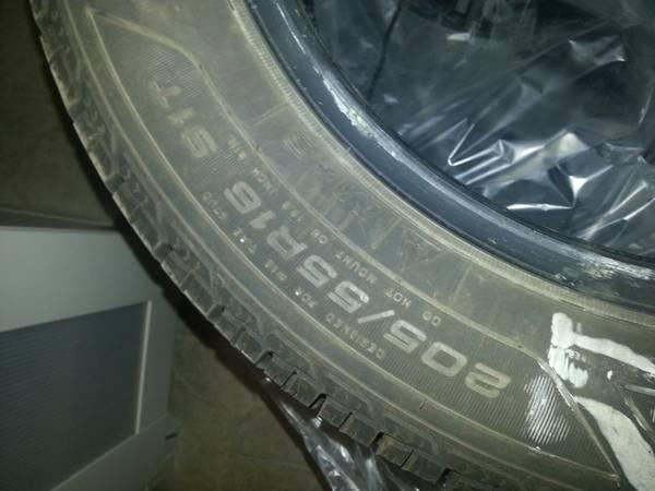 4 basically new Goodyear UltraGrip Winter tires 205/55R16 - $400