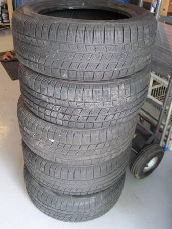 5 Pirelli winter tires good for summer 205/55/16 - $50