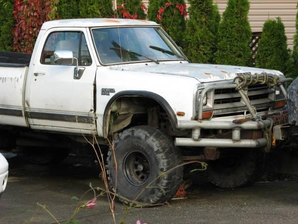 88 Dodge Ram Lifted For Sale In Mission British Columbia All Cars