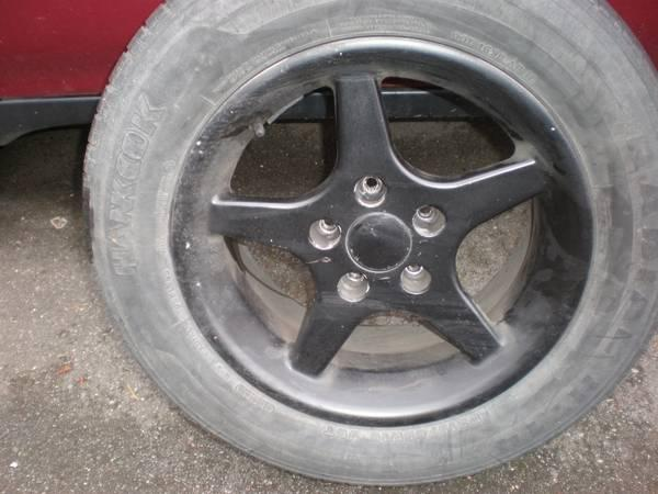 Black Spoke Alloy Wheels- 15 inch - $60
