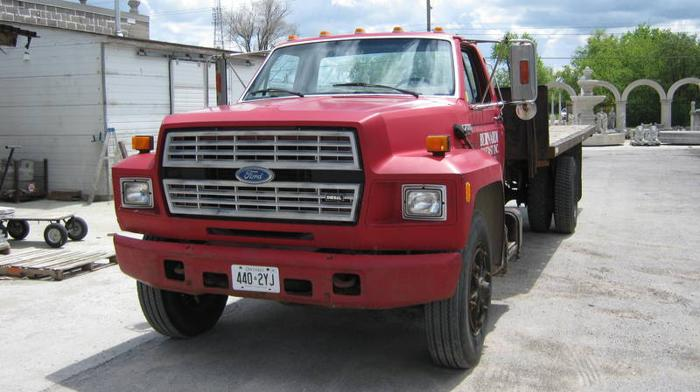 used flatbed single axle ford truck